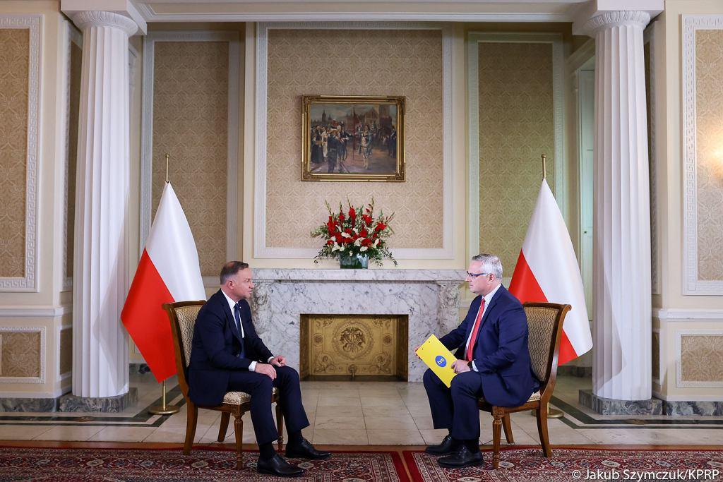 Andrzej Duda w rozmowie z TVN24