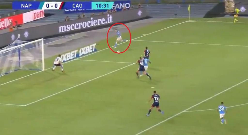 Piotr Zieliński zaliczył asystę przeciwko Cagliari