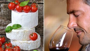 Camembert i czerwone wino (Bordeaux) / shutterstock