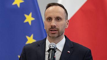 Janusz Kowalski. Konferencja prasowa ministra aktywów państwowych w Warszawie