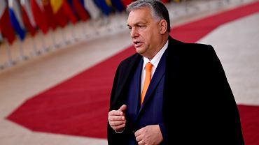 Premier Węgier Viktor Orban na szczycie unijnym w Brukseli, 10 grudnia 2020 r.