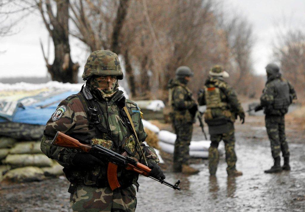Ukraińscy żołnierze w Donbasie