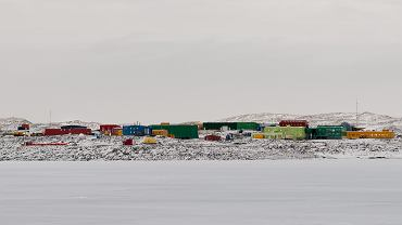 Antarktyda. Australijska stacja badawcza Davis.