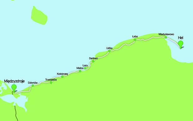 Trasa wzdłuż Bałtyku, rowery, szlaki rowerowe