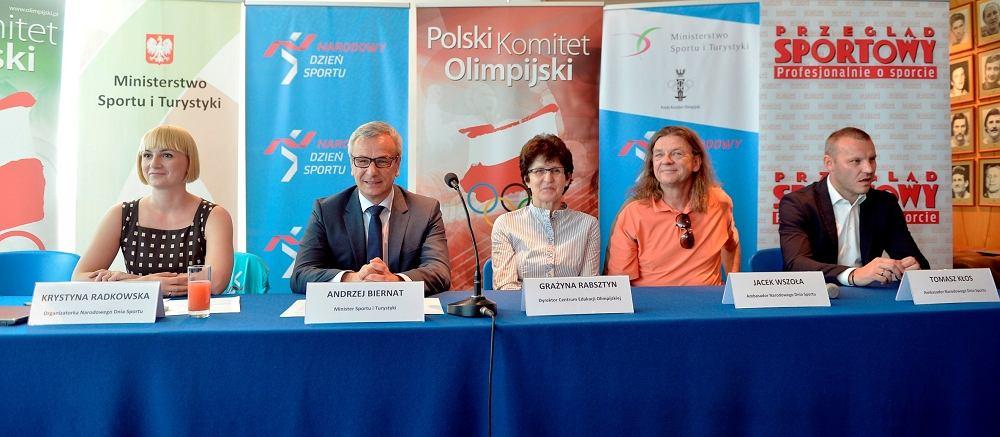 Konferencja prasowa przed Narodowym Dniem Sportu