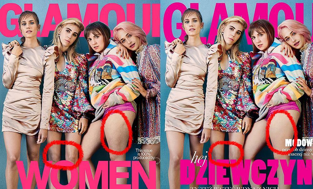 'Dziewczyny' na okładce amerykańskiego i polskiego Glamour