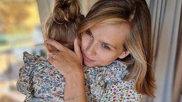 Agnieszka Kaczorowska z córką