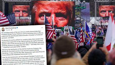 Po ataku na Kapitol Facebook blokuje dostęp Donalda Trumpa do serwisu