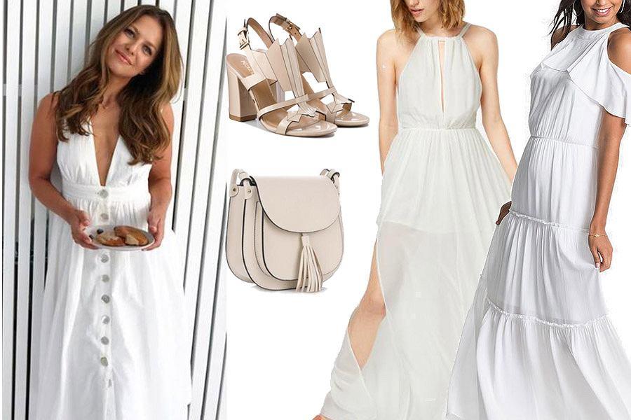 Kolaż, biała sukienka/Materiały partnera