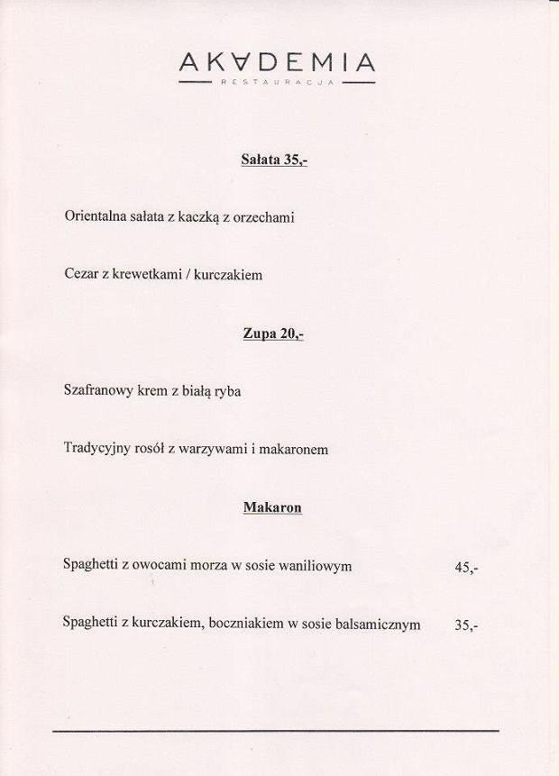 Borys Szyc, restauracja Akademia