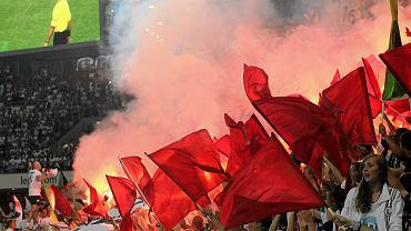 Trybuna północna stadionu Legii podczas meczu z Rosenborgiem