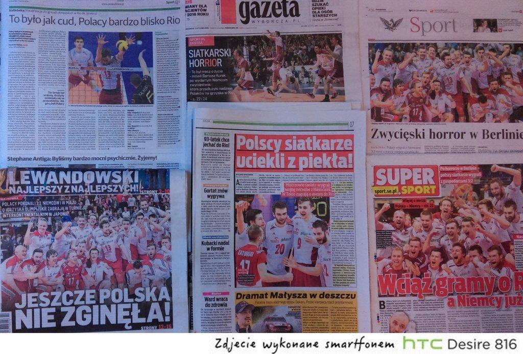 Polska prasa po wygranej z Niemcami