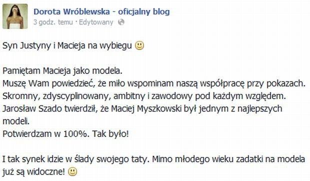 Dorota Wróblewska komentarz