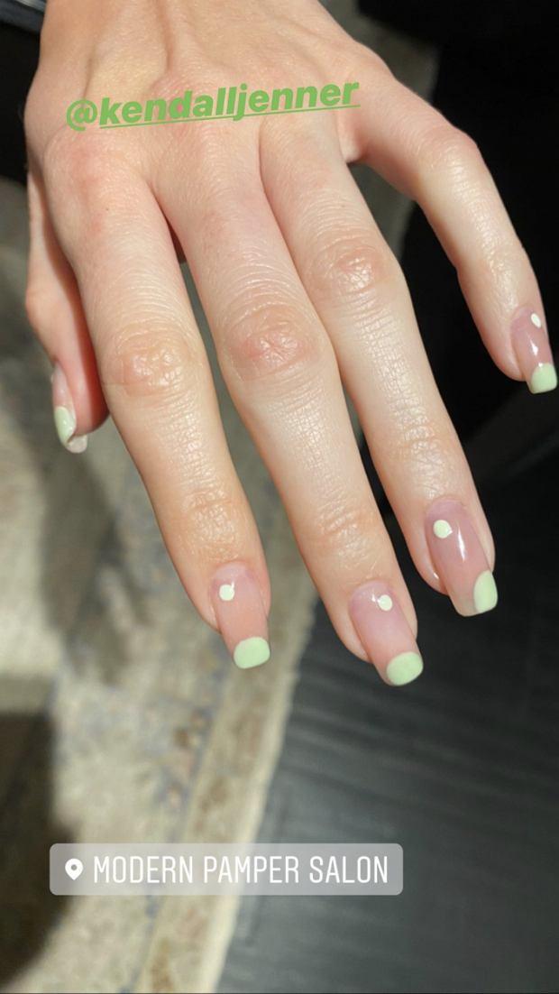 Kendall Jenner - Negative Space Nail Art