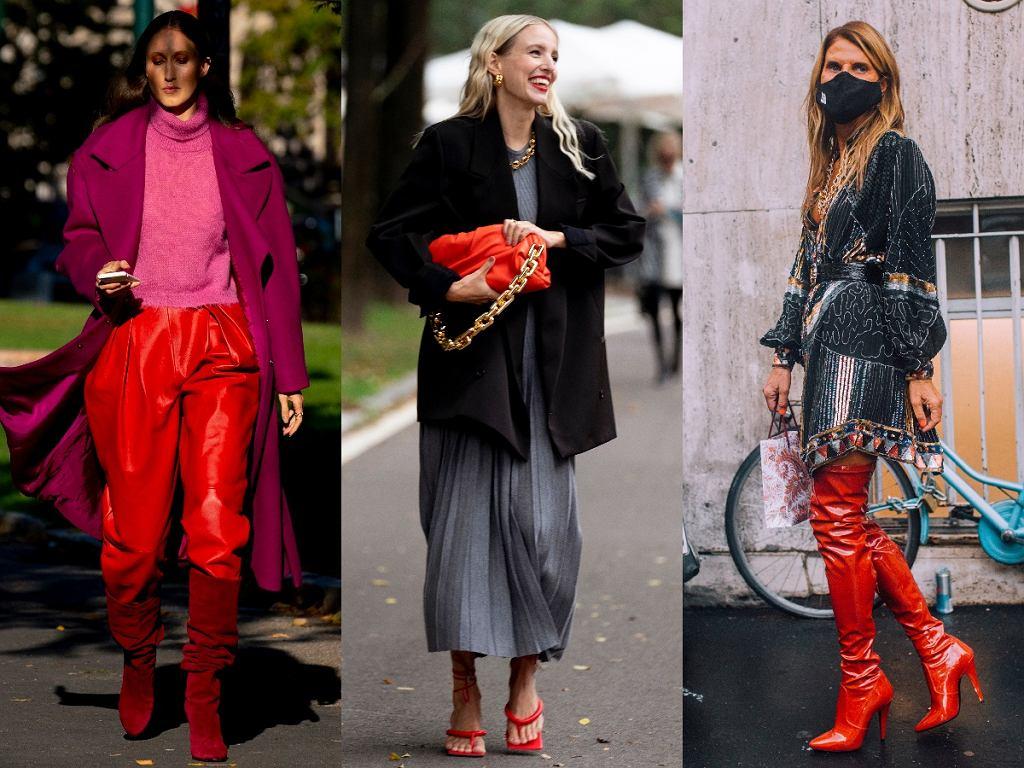 do czego pasują czerwone buty - stylizacje