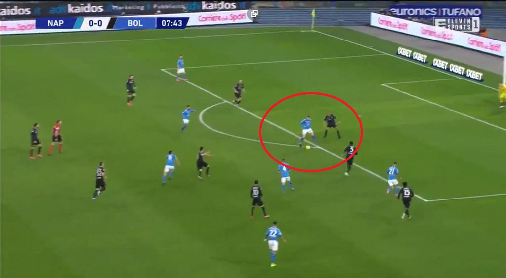Asysta Piotra Zielińskiego w meczu Napoli - Bologna