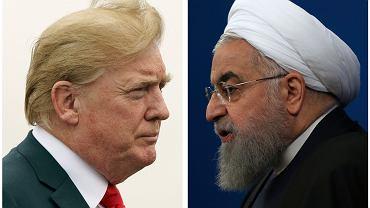 Donald Trump i prezydent Iranu Hassan Rouhani