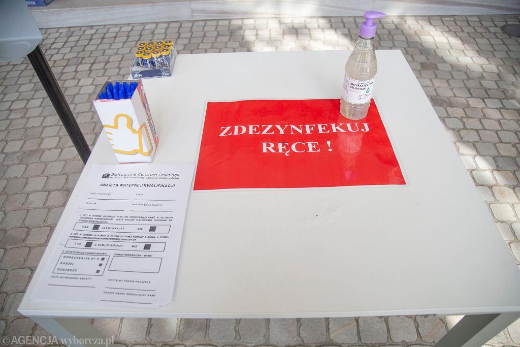 Ankieta epidemiologiczna. Zdj. ilustracyjne