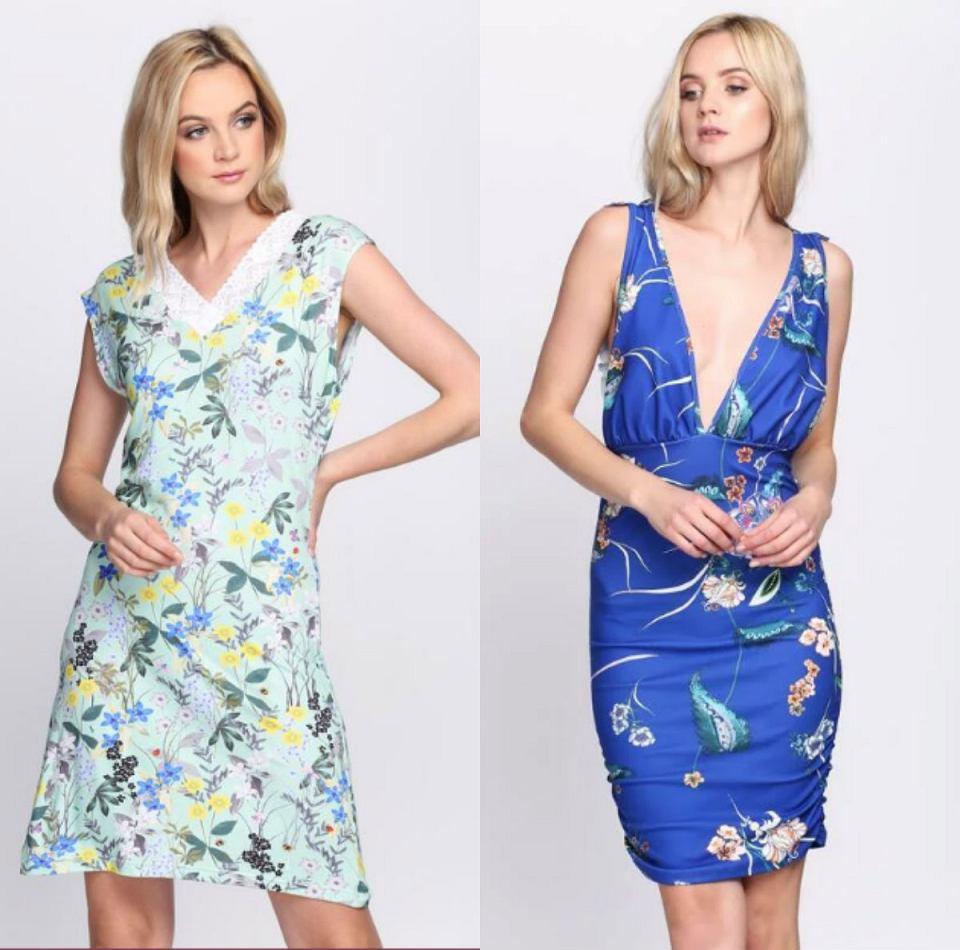 Sukienki w kwiaty na ramiączkach