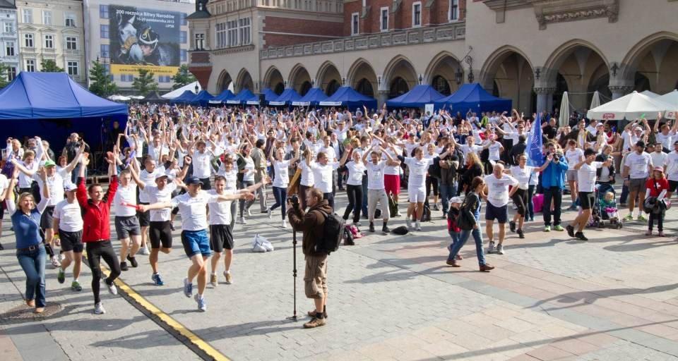 Trening przed startem zeszłorocznej edycji Poland Bussines Run