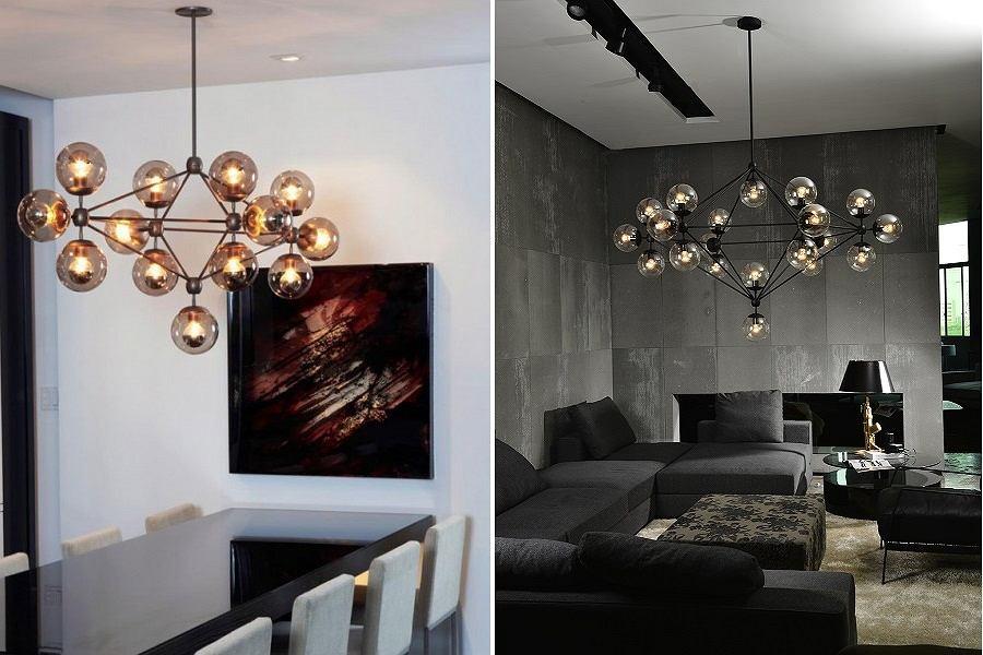 Lampa planteraio w stylu industrialnym.