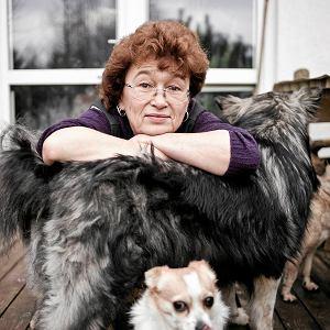 Dorota Sumińska ze swoimi psami