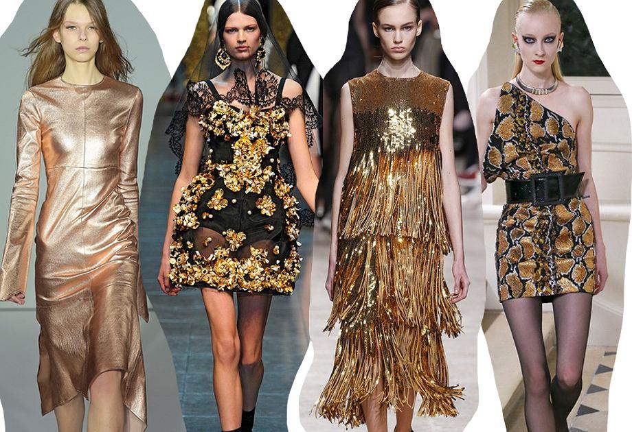 5 Sposobow Na Zlota Sukienke Inspiracje Z Wybiegow Pomysly Na Swieta I Sylwestra