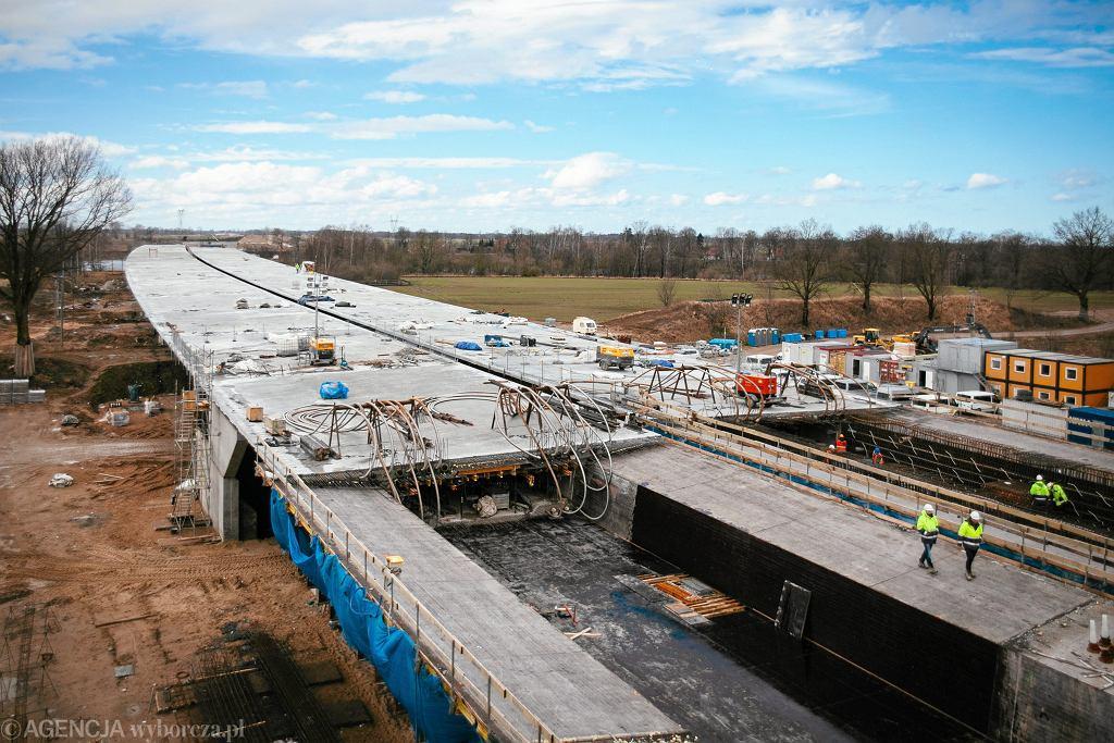 Budowa pomorskiego odcinka S7 (zdjęcie z marca 2017)
