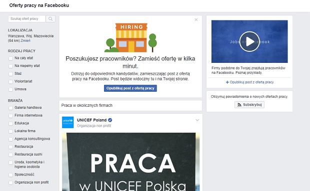 Facebook praca