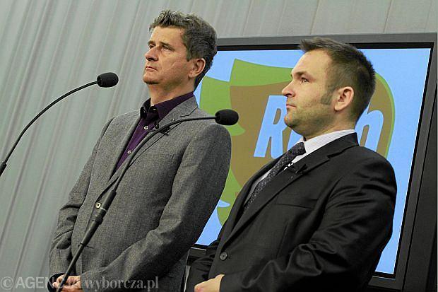 Poseł Janusz Palikot i Bartłomiej Bodio