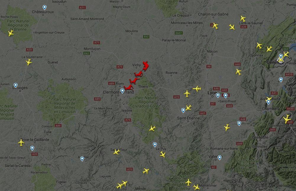 Sanie św. Mikołaja na Flight Radarze