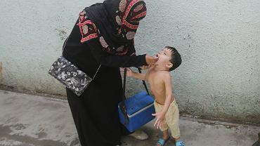 18.06.2019, Lahore, Pakistan, akcja szczepień przeciwko polio.
