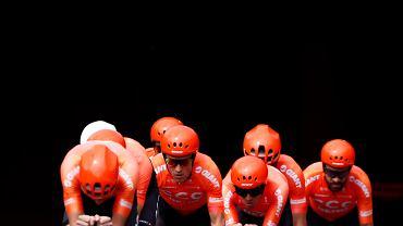 CCC Team na etapie jazdy drużynowej na czas podczas Tour de France