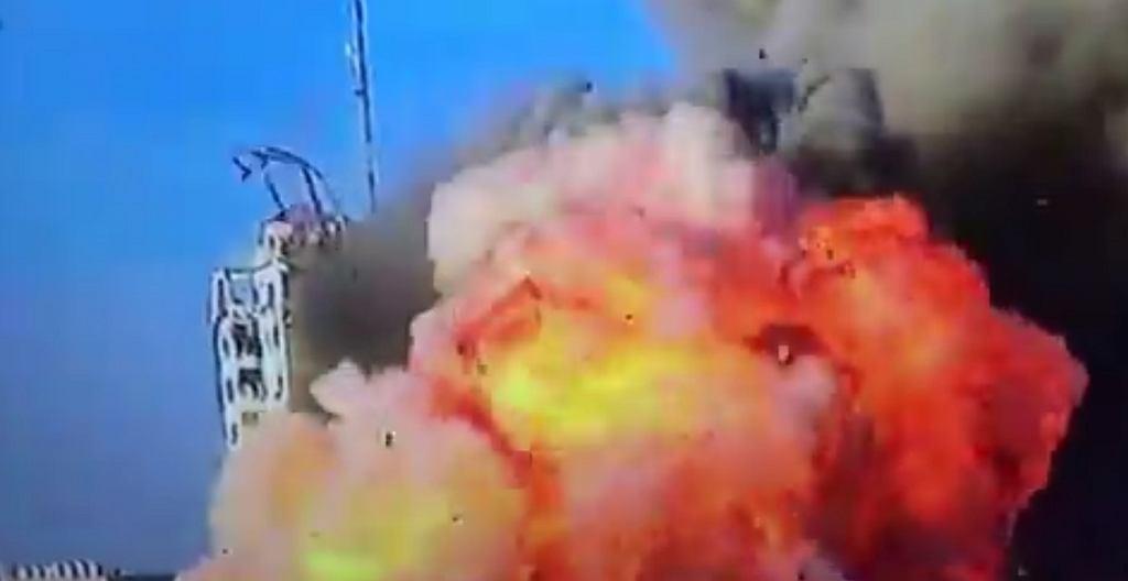 Kolejny wieżowiec zbombardowany