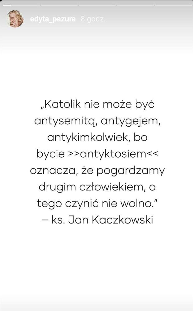 Edyta Pazura, Andrzej Duda, LGBT
