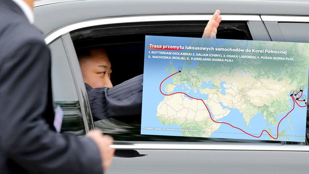 Trasa przemytu luksusowych samochodów do Korei Północnej