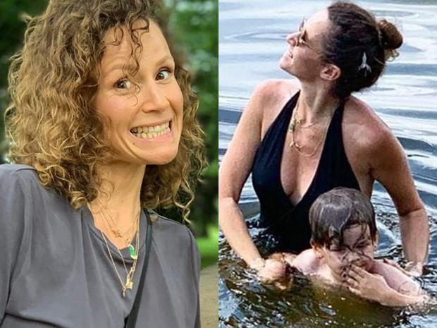 """Monika Mrozowska oskarżona o to, że zawstydza dzieci, bo pozuje przy nich w kostiumie kąpielowym. """"Gdzie jakiś dobry smak."""""""