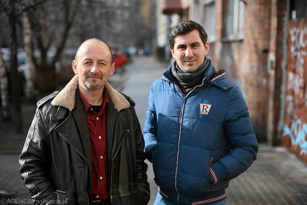 Nowy dyrektor Teatru Powszechnego Paweł Łysak (z lewej) i jego zastępca Paweł Sztarbowski
