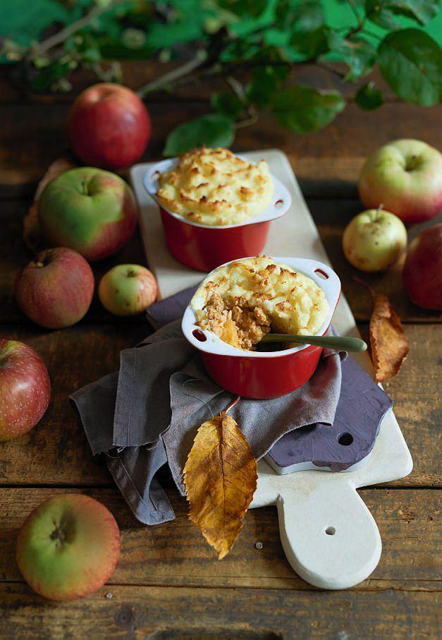 Zapiekanka z mielonej łopatki wieprzowej z jabłkami
