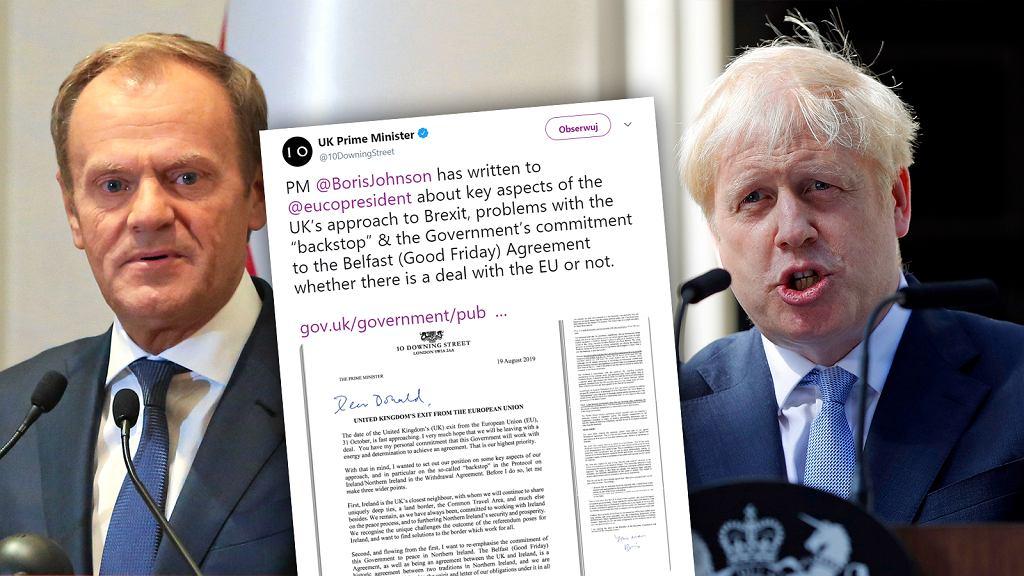 Brexit. Boris Johnson napisał list do Donalda Tuska. Chce zmian w umowie brexitowej z UE.