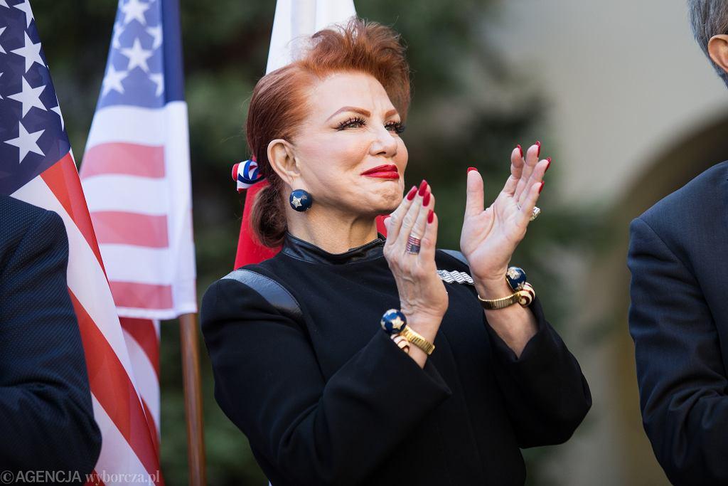 11.10.2018, Lublin, ambasadorka USA Georgette Mosbacher podczas wizyty na Katolickim Uniwersytetu Lubelskim.