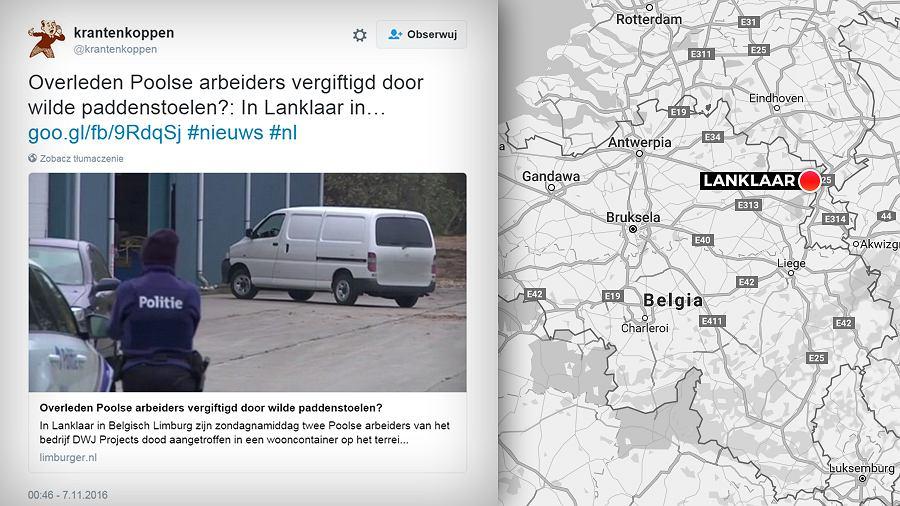 Ciała dwóch Polaków znaleziono w Belgii