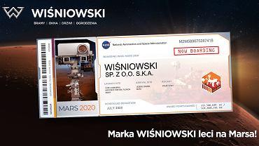 Marka Wiśniowski leci na Marsa.