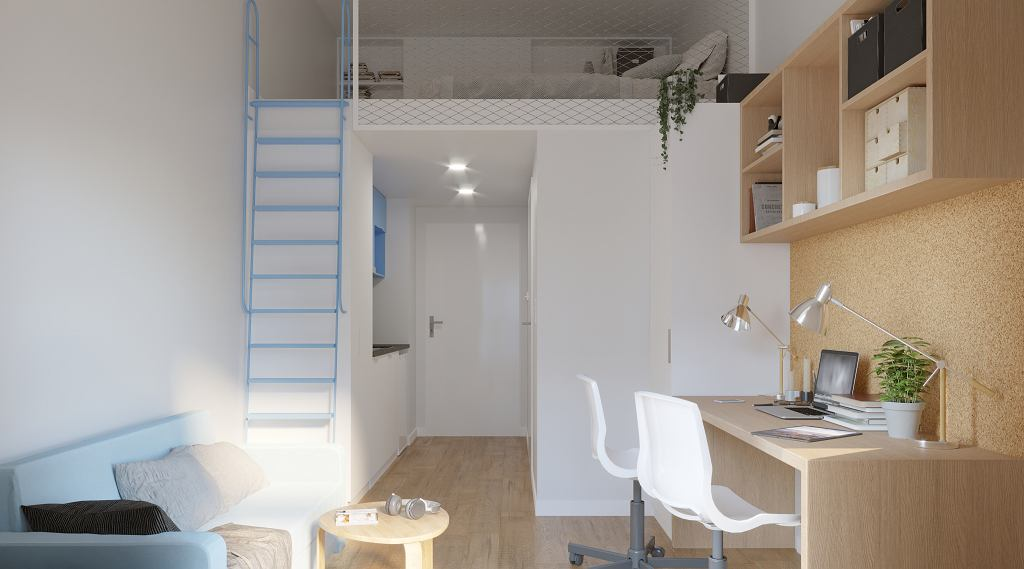 Mieszkanie z antresolą