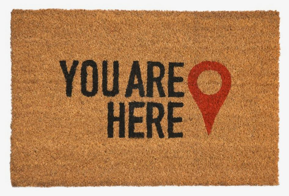 Wycieraczka 'You are here''.
