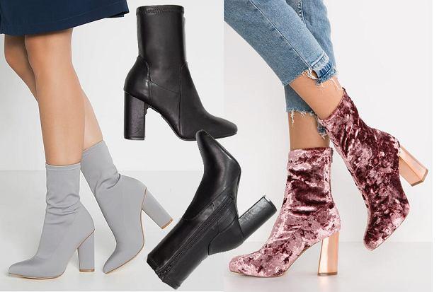Botki skarpetkowe modne buty jesienne. Do czego pasują