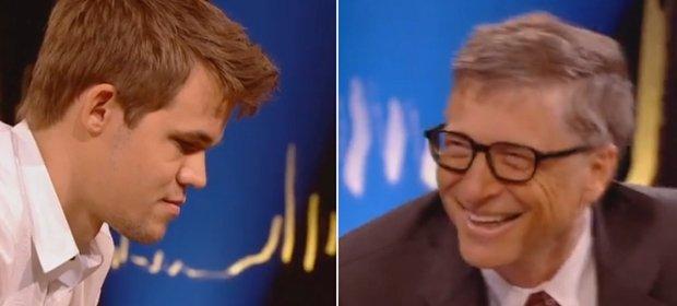 Magnus Carlsen i Bill Gates