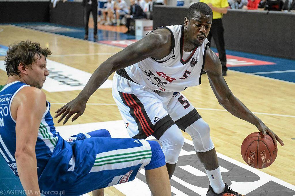 Z piłką Brandon Peterson z TBV Startu Lublin