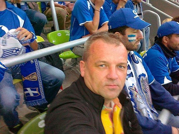 Sławomir Sowula na meczu Niemcy - Grecja
