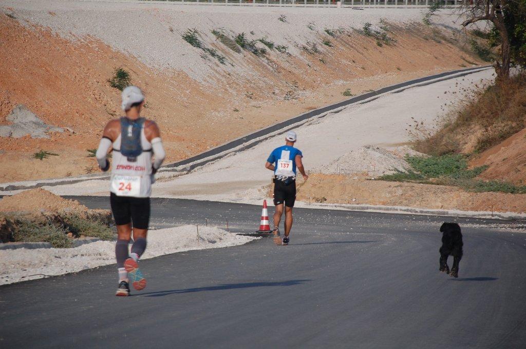 Trasa ultramaratonu z Aten do Sparty